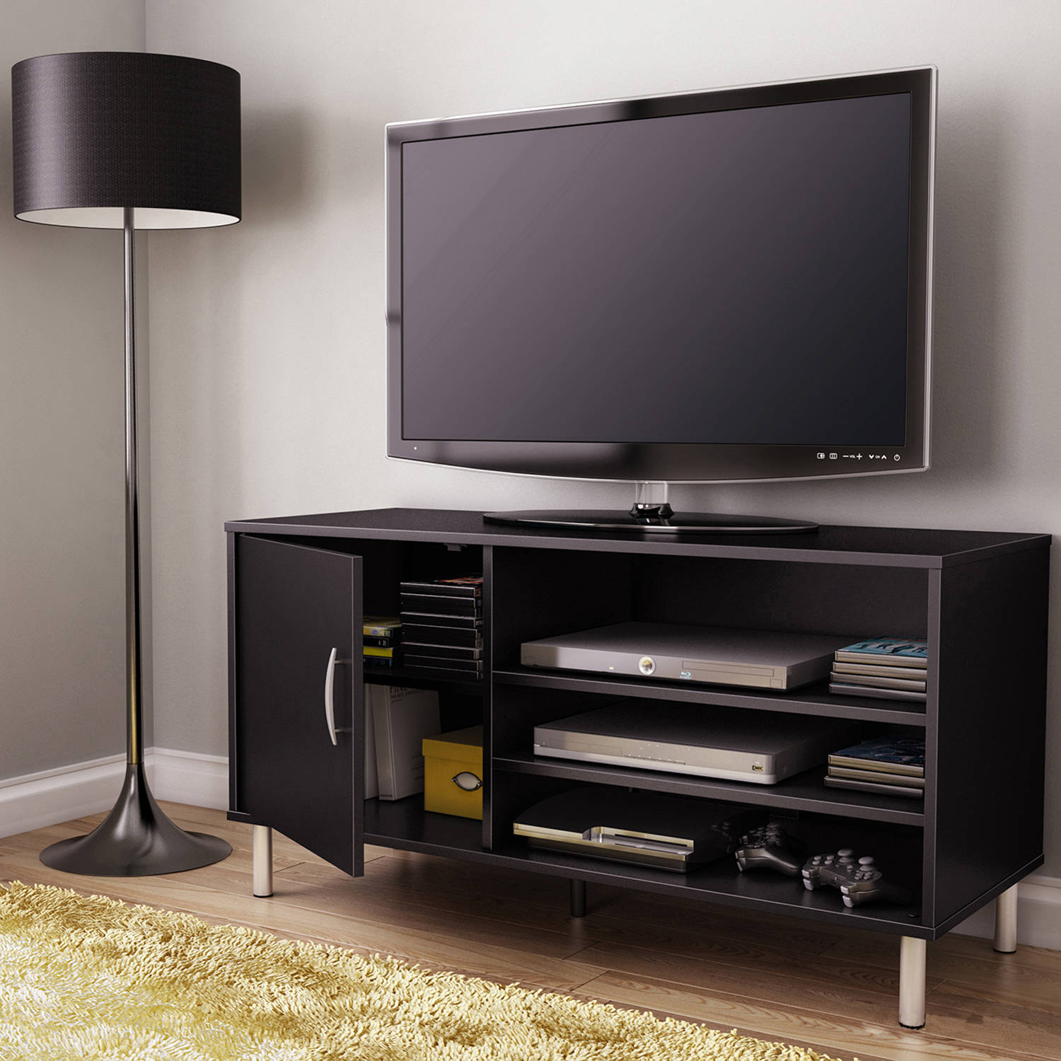 "South Shore Renta TV Stand with Door for TVs up to 48"", Multiple Colors"