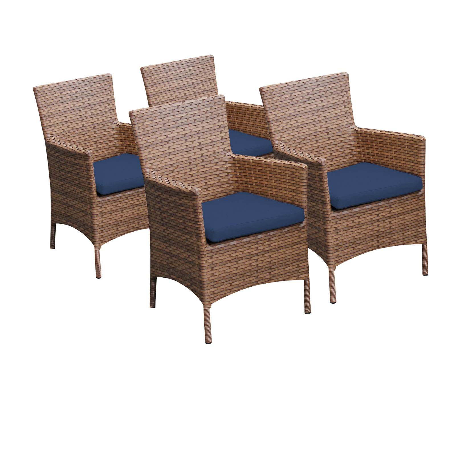 4 Tuscan Dining Chairs With Arms