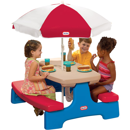 Little Tikes - Easy Store Table with Umbrella