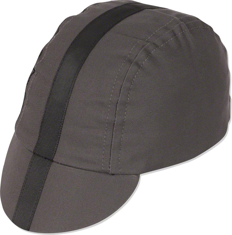 Pace Sportswear Classic Cycling Cap: Charcoal with Black Tape XL