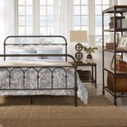 TRIBECCA HOME Morocco Dark Bronze Casted Knot Metal Bed Queen