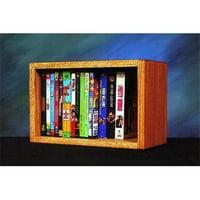 Wood Shed 110-1 W Solid Oak desktop or shelf DVD- VHS Cabinet