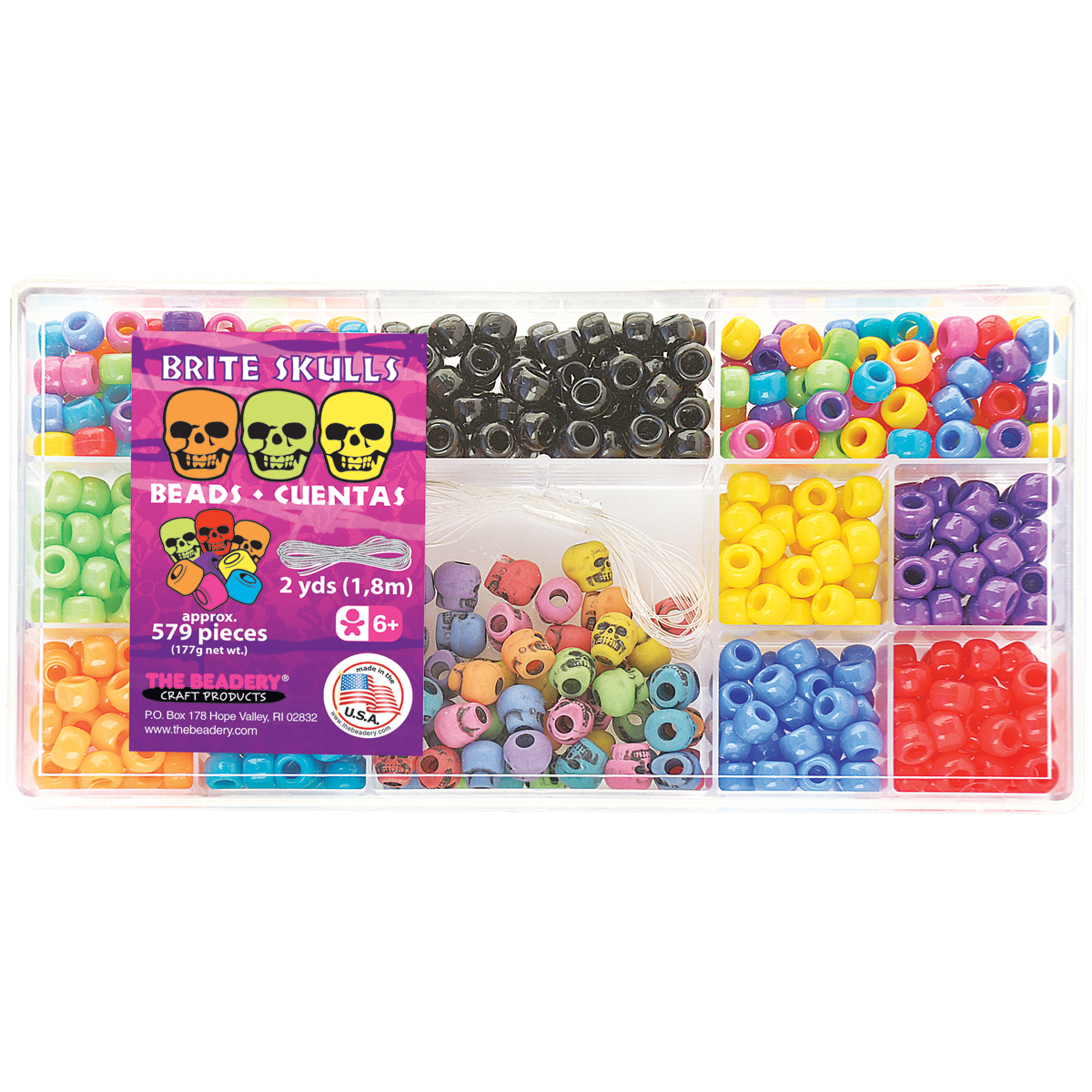 Bead Box Kit 6.25oz-Brite Skulls