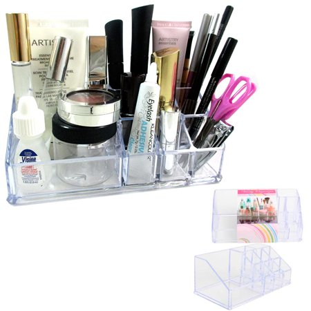 Vanity Organizer Acrylic Clear Cosmetic Lipstick Brush Makeup Stand Storage
