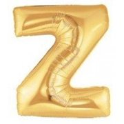 40 Inch Megaloon Gold Letter Z Balloons - Wholesale