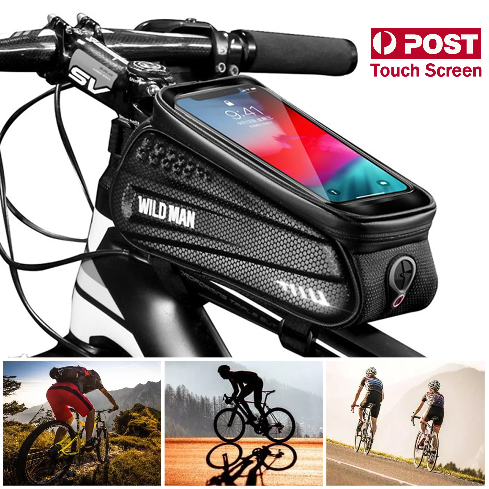 Details about  /Bike Phone Front Frame Bag Waterproof Bicycle Top Tube Cycling Mount Pack Case