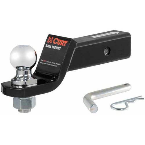 """Curt Manufacturing Cur45036 2"""" Drop Loaded Ball Mount with 2"""" Ball 7.5K with Pin & Clip"""