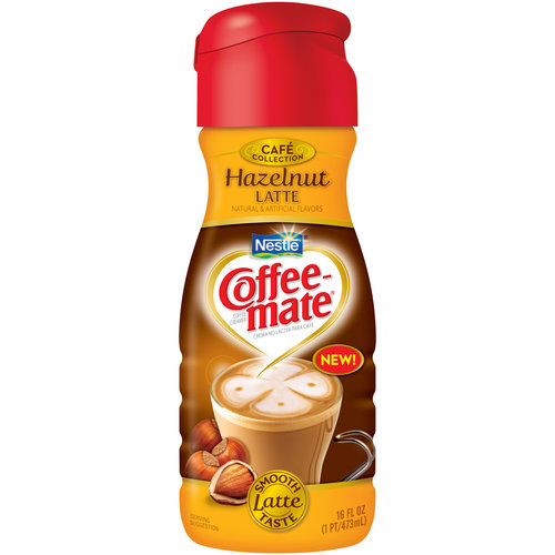 Nestle Coffee-Mate Cafe Collection Cafe Hazelnut Latte Coffee Creamer, 16 fl oz