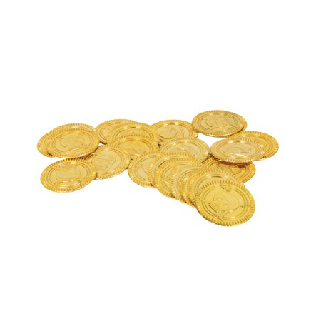 Plastic Pirate Treasure Coins, Gold, 144ct](Play Gold Coins)