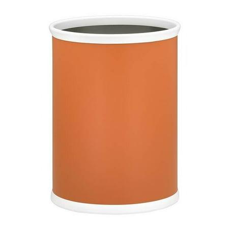 Bartenders Choice Fun Colors Oval Wastebasket in Spicy Orange