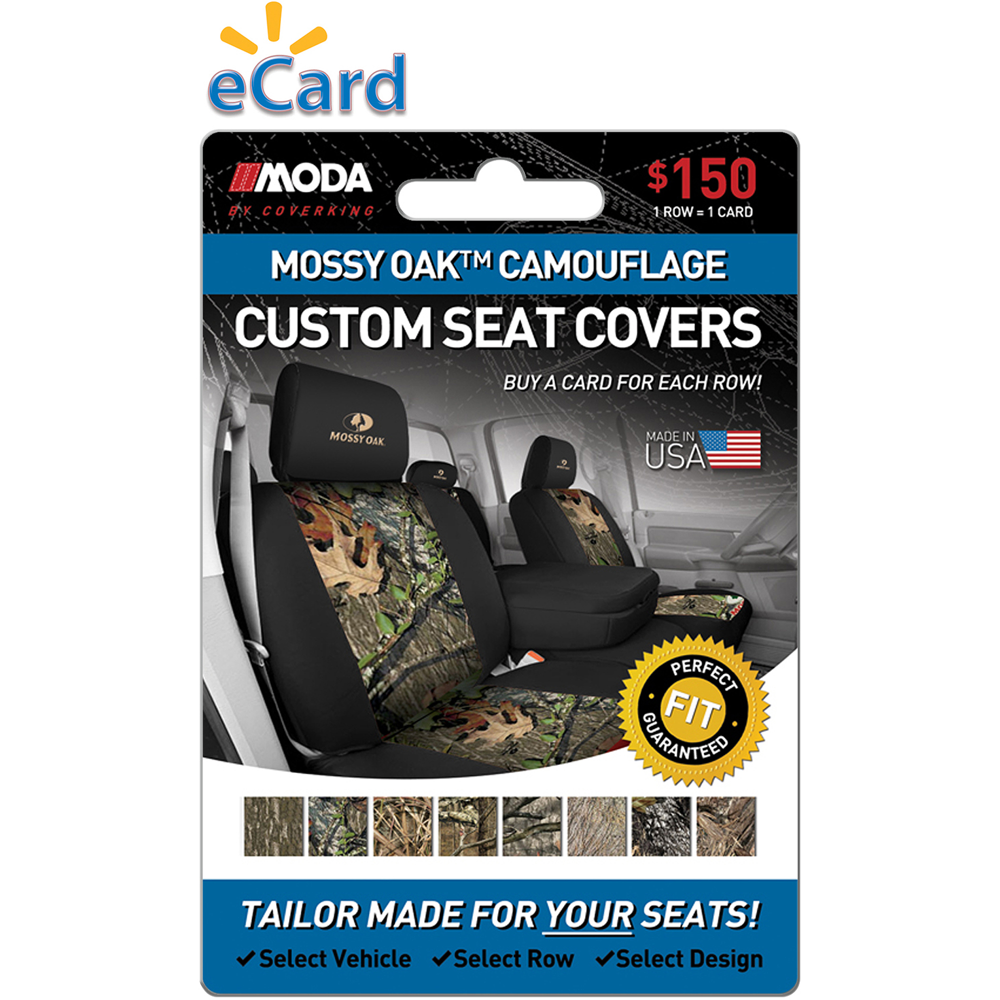 MODA by Coverking Designer Custom Seat Covers Mossy Oak $150 (Email Delivery)