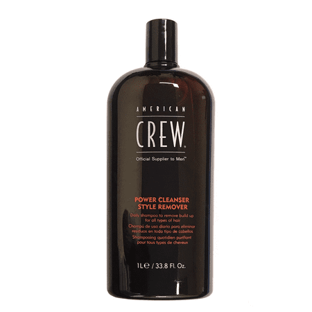 American Crew Power Cleanser Style Remover 33.8 Oz, Daily Shampoo To Remove Build Up For All Hair