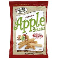 Sensible Portions Cinnamon Apple Straws, 6 oz, (Pack of 12)