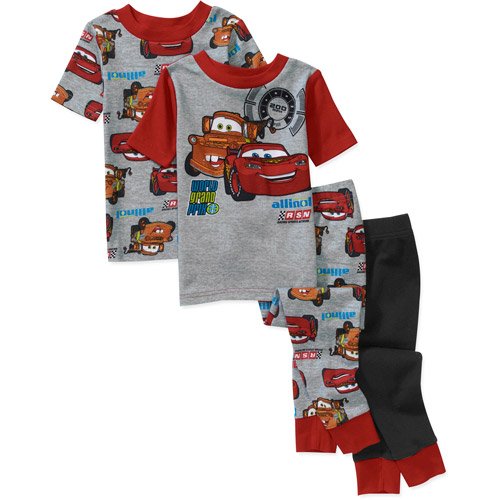 Disney Baby Boys' Cars 4 Piece Cotton Pj