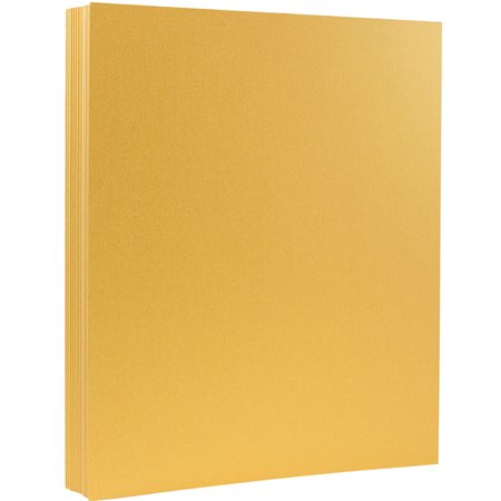 JAM Paper Metallic Cardstock, 8.5 x 11, 110 lb Stardream Metallic Gold, 50 Sheets/Pack