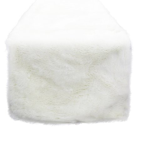 Noël Blanc Faux Fur Design White Holiday Christmas Decorative Table Runner (16