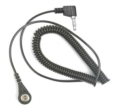 Static Control Cord,Rt Angle,7 ft. 4ECW3
