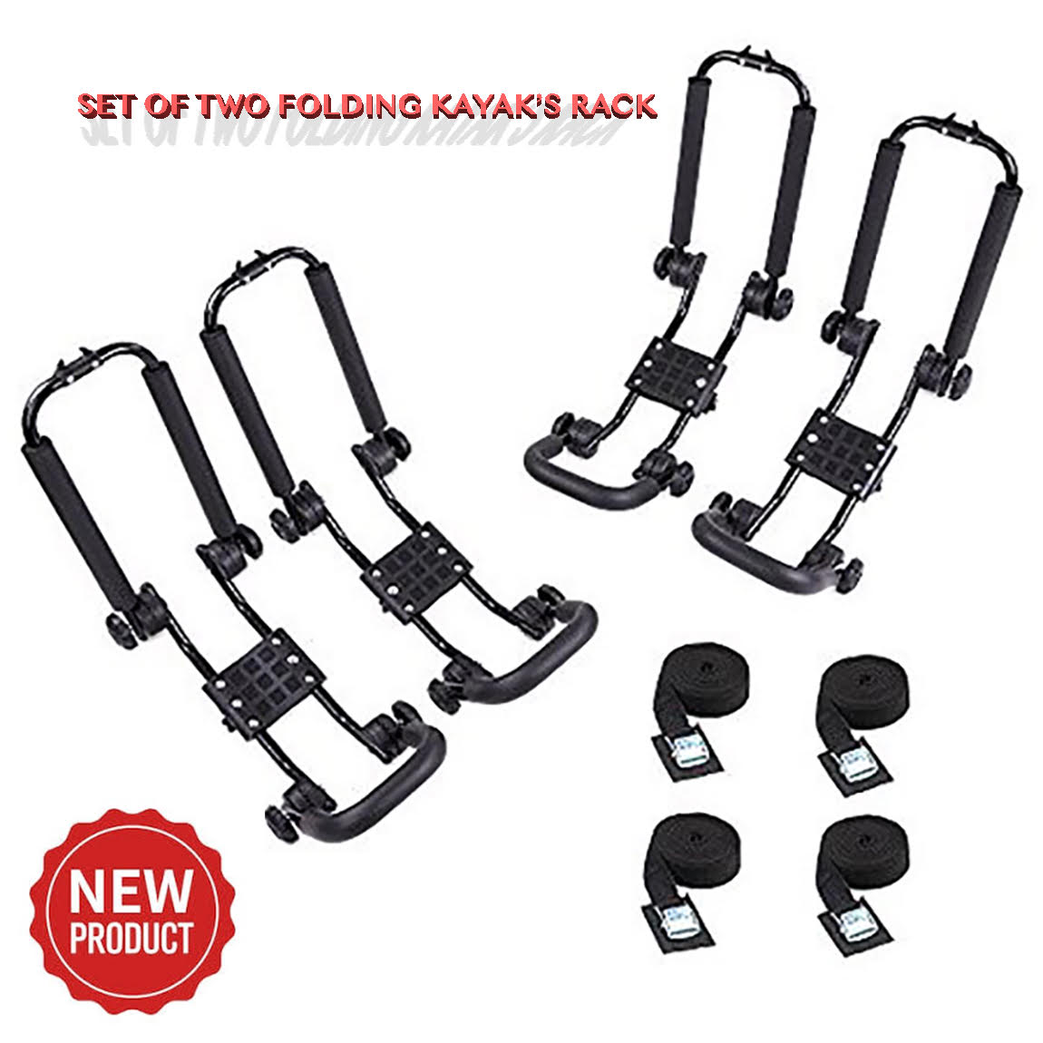 2 Pairs New Mode Multi-Functional Kayak Top Roof Carrier Canoe Boat Surf Ski Snow Board by China
