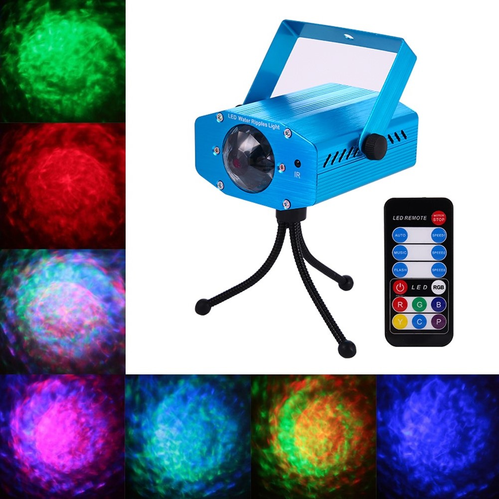 Litake Led 7 Color Remote Rgb Water Wave Ripple Effect