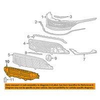 CHRYSLER OEM 15-16 200 Front Bumper Grille-Shutter 68302662AA