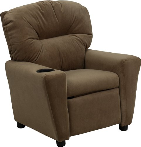 Flash Furniture Kids' Microfiber Recliner with Cup Holder, Multiple Colors