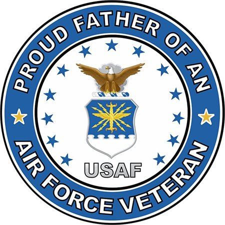 MAGNET US Air Force Veteran Proud Father 11.75 Inch Magnetic Sticker Decal