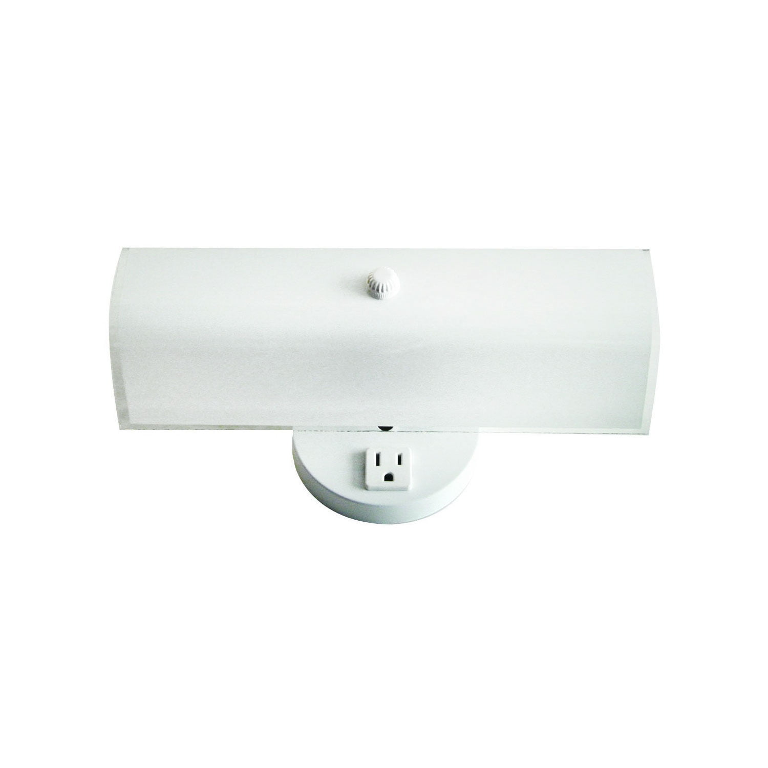 2 Bulb Bath Vanity Light Fixture Wall Mount With Plug In Receptacle White Walmart Com Walmart Com