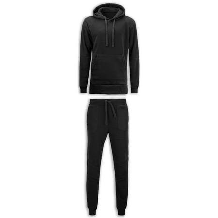 NEW Men Fleece Sweat Suit Quilted Biker Joggers Jacket Hooded Shirt (Burgundy Workout Jacket)