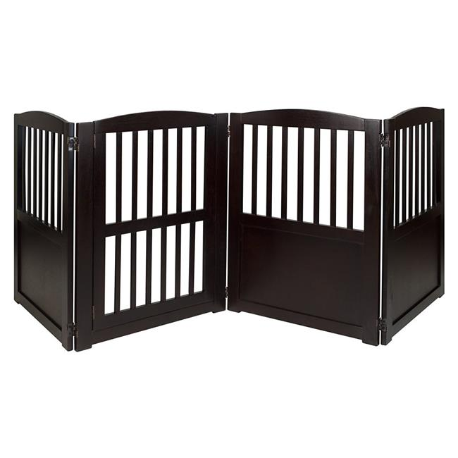 Chappy Convertible Pet Gate, Espresso - image 1 of 1
