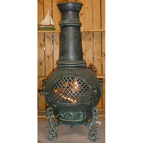 The Blue Rooster Gatsby Style Aluminum Wood Burning Chiminea by The Blue Rooster