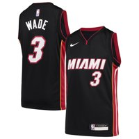 Dwyane Wade Miami Heat Nike Youth Team Swingman Jersey - Icon Edition - Black
