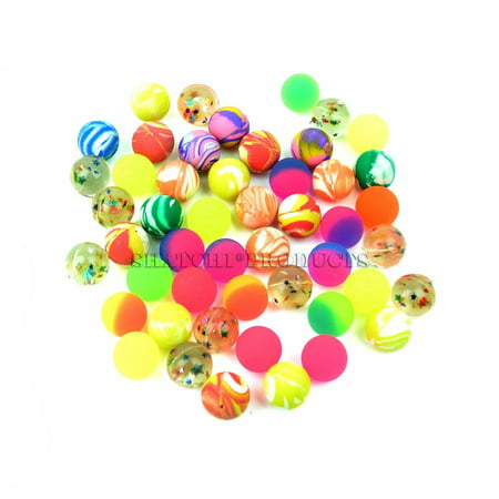 50 Bouncy Jet Ball 27mm Birthday Party Loot Bag Fillers Kids Birthday Toys - Halloween Birthday Party Games For Kids