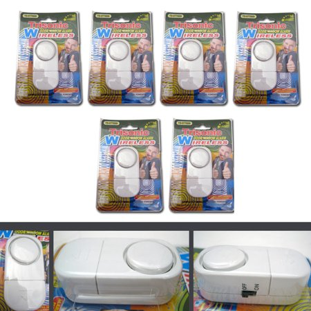 Auto Dial Alarm System - 6 PACK WIRELESS DOOR AND WINDOW ENTRY ALARM BATTERY HOME SYSTEM SECUIRTY SWITCH