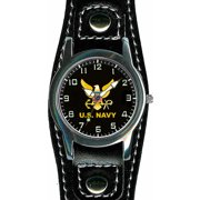 US Navy Leather Buckle Watch
