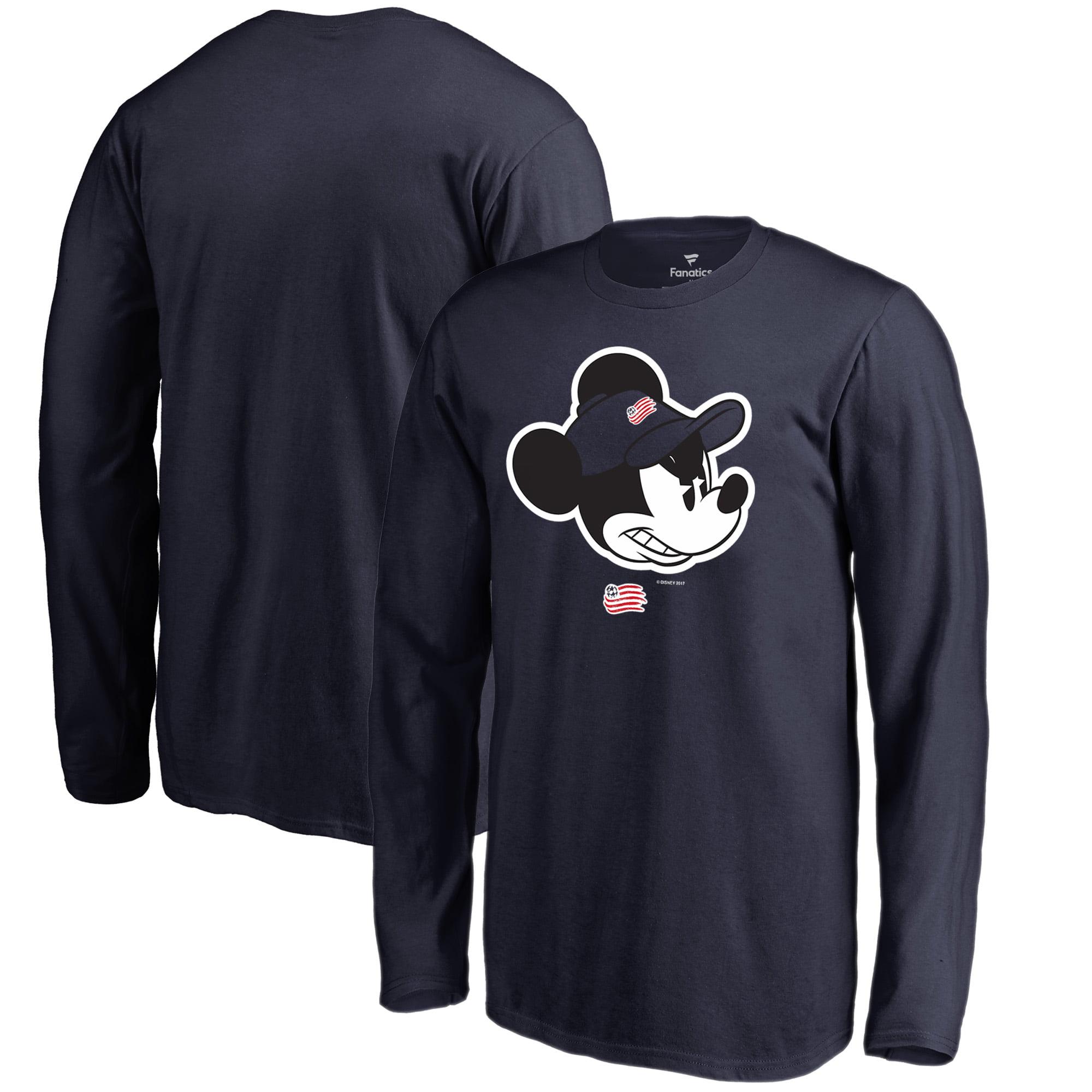 New England Revolution Fanatics Branded Youth Disney Game Face Long Sleeve T-Shirt - Navy