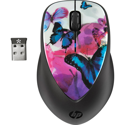 HP Butterfly Blossom Special Edition Wireless X4000 Mouse