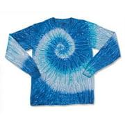 Dyenomite 240RP Long Sleeve Ripple Tee for Women, Blue - 2XL