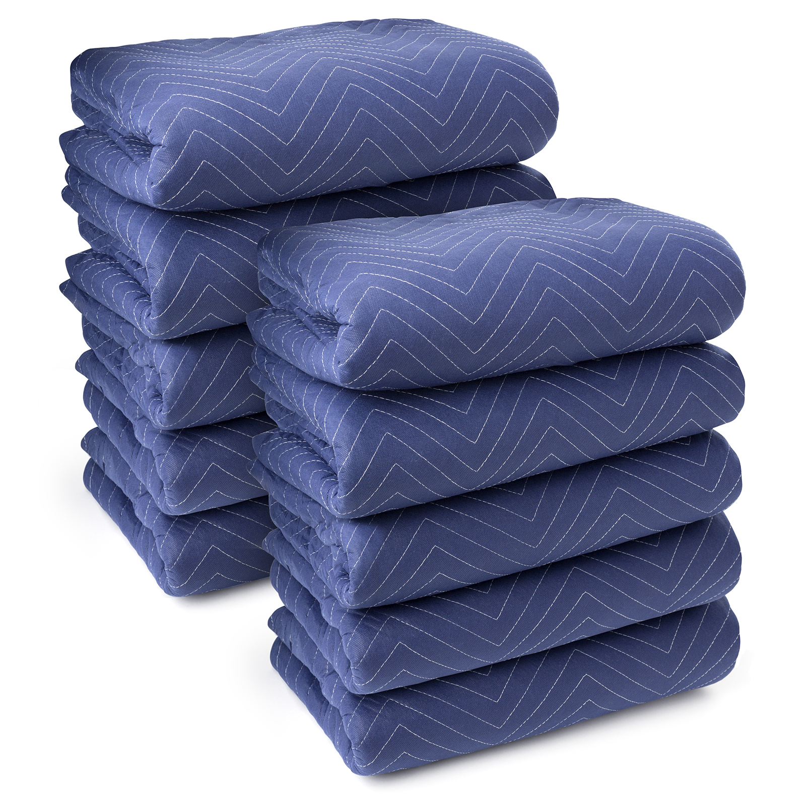 """Sure-Max 10 Moving & Packing Blankets - Deluxe Pro - 80"""" x 72"""" (40 lb/dz weight) - Professional Quilted Shipping Furniture Pads Royal Blue"""