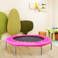 "Round Bounce, 38"" Mini Trampoline for Kids, Small Fitness Trampoline with Safety Pad, Durable Rebounder Trampoline for Kids Adults, Outdoor Indoor Exercise Trampoline Holds Up to 180 Pounds"