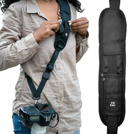 HiiGuy Camera Strap for Canon, Nikon, Extra Long Neck Strap W/Quick Release,3-Year