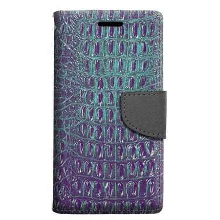 factory price 7b081 253f4 Motorola Moto E4 Wallet Case - Alligator Faux Turquoise Skin Case