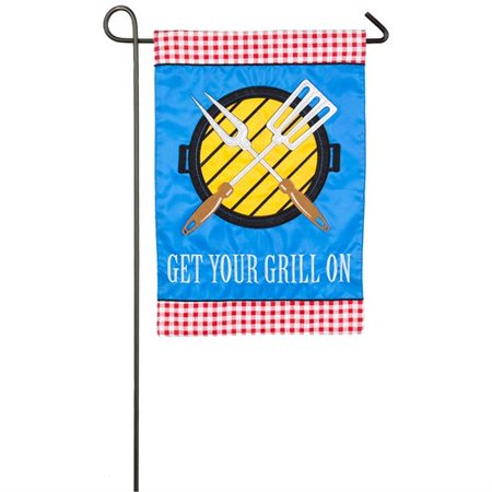 Flag Grille - Evergreen Flag & Garden Get Your Grill on 2-Sided Polyester 1'6 x 1'0.5 ft. Garden Flag