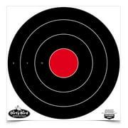 """Birchwood Casey 35185 Dirty Bird Bull's-Eye 17.25"""" Target 5 Pack Black/Red"""