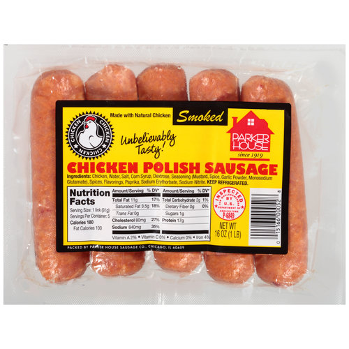 Parker House Smoked Chicken Polish Sausage, 16 oz