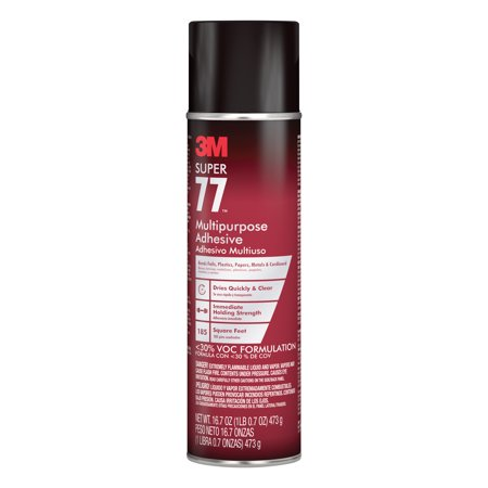 3M Scotch Super 77 Spray Adhesive, 16.75 oz.