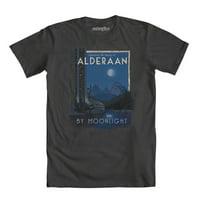 Star Wars Alderaan By Moonlight Mens Charcoal Grey T-Shirt | M