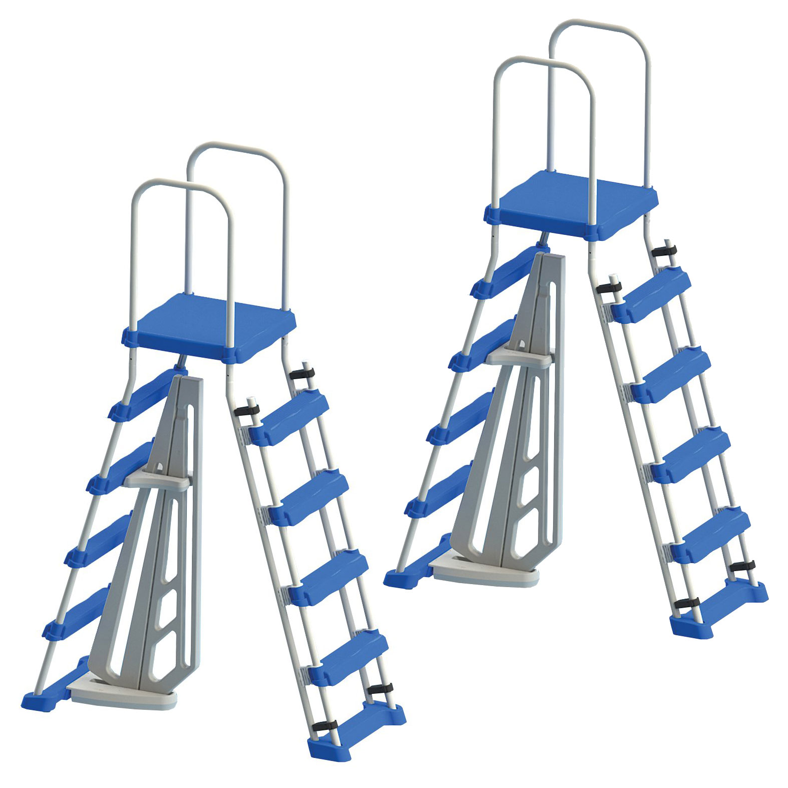 """Swimline Above Ground Pool A Frame Ladder with Barrier for 48"""" Pools (2 Pack)"""