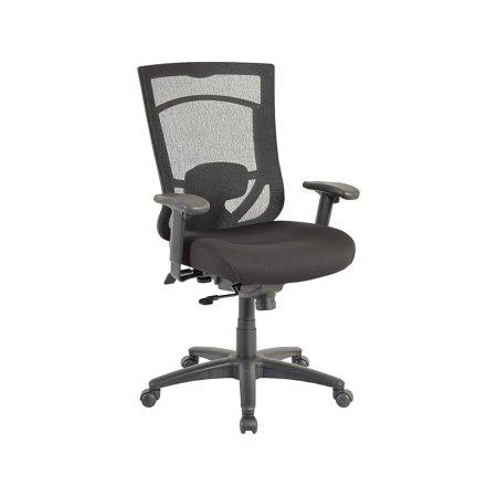 Tempur-Pedic Mesh Back Fabric Task Chair Black (TP7000-RAV/COAL) 1539761 Tempur Pedic Fabric Chair