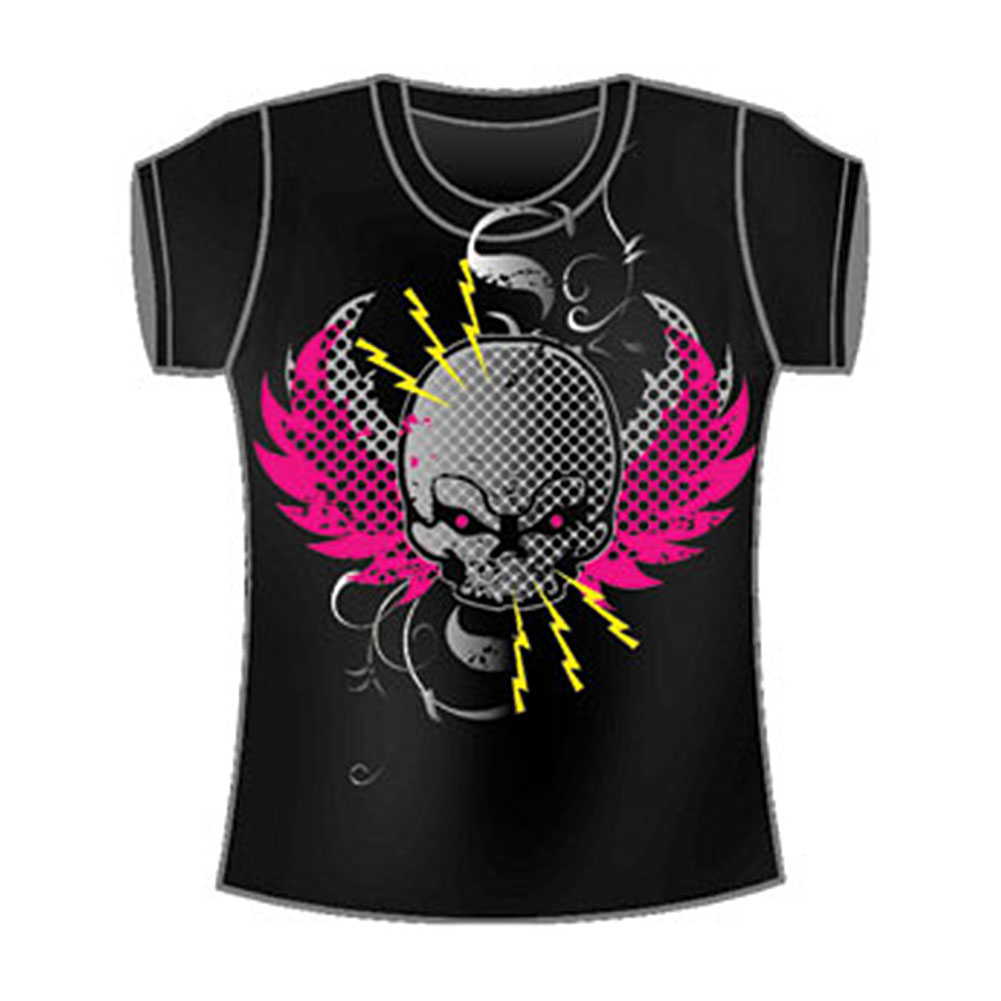 Guitar Hero  Girls Jr Tissue Tee Black