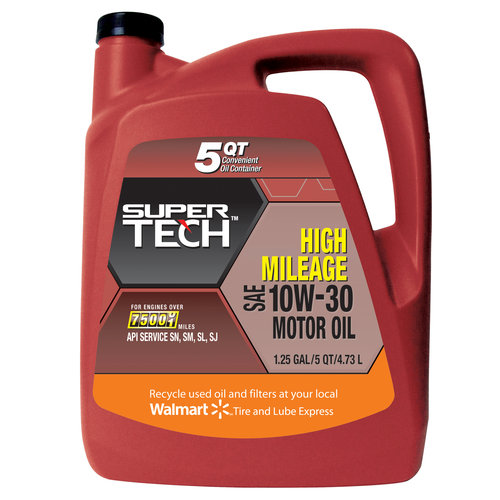 SuperTech High-Mileage 10W30 Motor Oil, 5-Quart